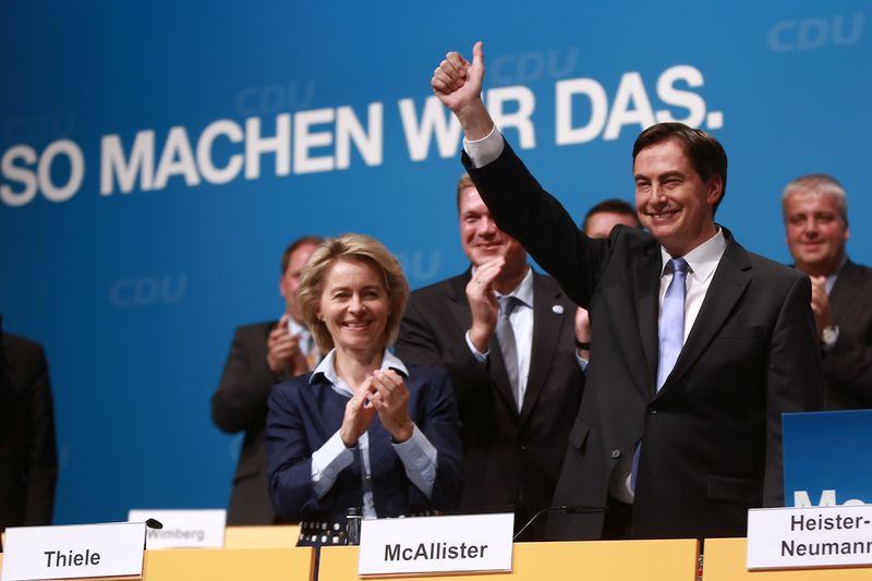 Ministerpräsident David McAllister MdL nach seiner Nominierung.