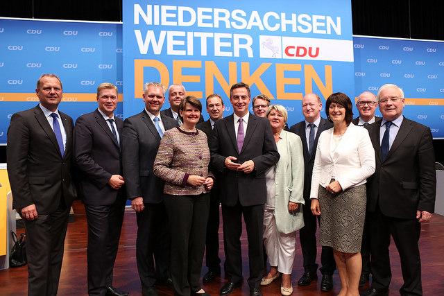 Das Präsidum der CDU in Niedersachsen
