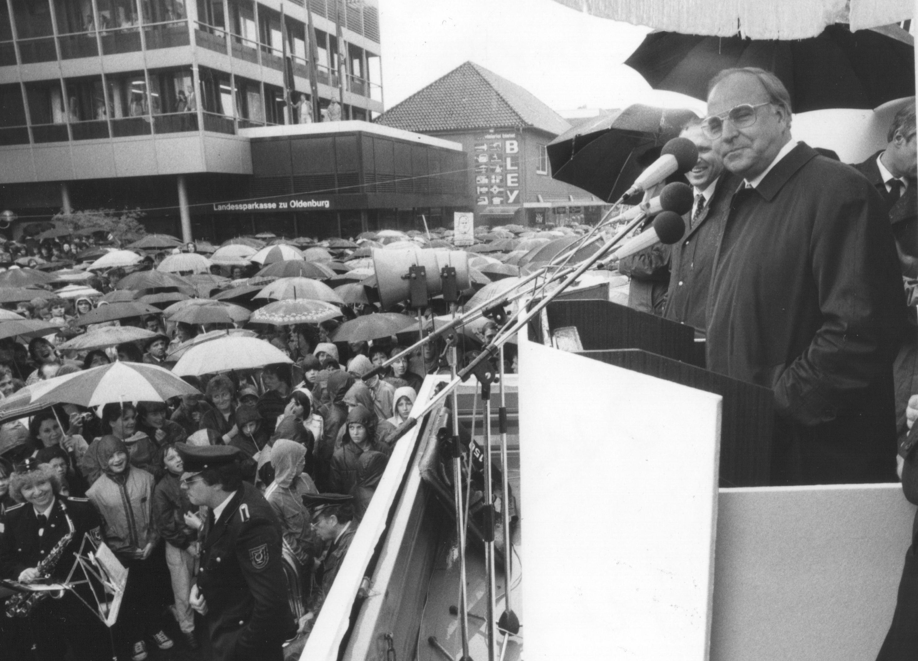 Helmut Kohl 1998 in Cloppenburg