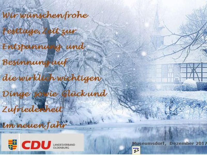 CDU Landesverband Oldenburg - Ein gesegntes Weihnachtsfest und ein ...